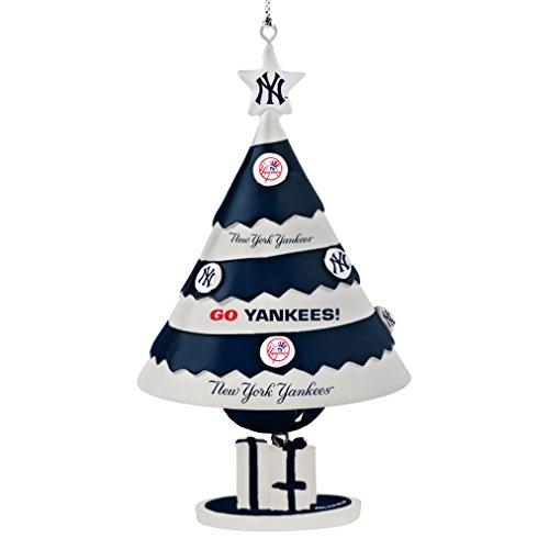 mlb new york yankees tree bell ornament blue 5