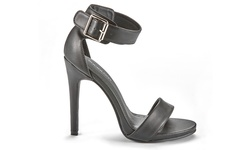 Sociology Women's Single Strap Dress Sandals: Black/9