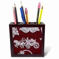 """Belgium, Bruges, Historic Bruges, Belgium Lace-EU04 CMI0148 Cindy Miller Hopkins Tile Pen Holder - 5"""""""