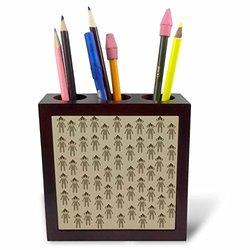 """ph_178976_1 Brown Sock Monkeys Cute Animals Art Tile Pen Holder, 5"""""""