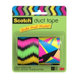 Scotch Duct Tape, Triangle Paradise & Ne-ron Ron, 1.42-Inch by 5-Yard