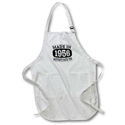 "apr_212553_4 Made in 1956 Maturity Date TDB Full Length Apron with Pockets, 22 by 30"", Black"