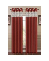 Window Elements Felicity Single Curtain Panel; Spice