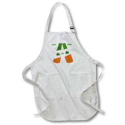 Irish Beer - Full Length Apron, 22 by 30-Inch, Black, with Pockets (apr_51483_4)