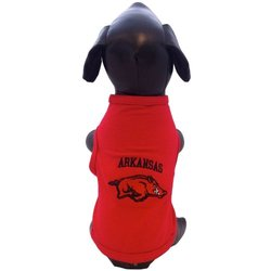 NCAA Arkansas Razorbacks Cotton Lycra Dog Tank Top, X-Small