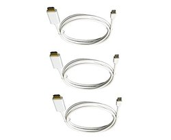 3 Pack Gold Plated Mini Display Port - HDMI Male/Male 15' White CNE463280