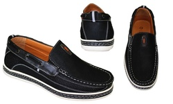 Frenchic Collections Men's Slip-On Loafers - Black - Size: 13