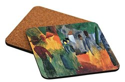 "Rikki Knight ""People in The Park Design"" Square Beer Coasters"