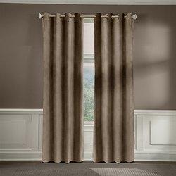 Veratex American Collection Velvet Soft Luxury Curtain Pebble