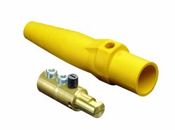 Leviton 16D24-Y 16-Series Taper Nose, Male Plug Contact, Cam-Type, Detachable, Double Set Screw Termination, Yellow