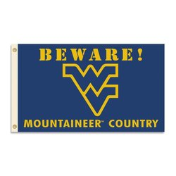 NCAA West Virginia Mountaineers 3 x 5-Feet Country Flag with Grommets