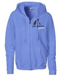 Women's Heavy Blend Full Zippered Hoodie Sweatshirt - Blue - Size: Medium