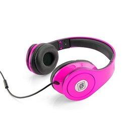 Sonic Wave 1000 Dj Headphones: Neon Pink