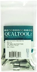 Qualtool Premium MSH3/8-10 Magnetic 3/8-Inch Hex Short Nutsetter, 10-Pack