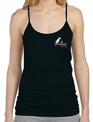 Pampered Pets Women's Spaghetti Strap Tank Top Logo - Black - Size: Large