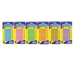 BAZIC Pencil Grip Eraser (6/Pack) Box Pack of 24 24