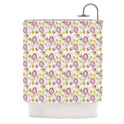 "Kess InHouse Julie Hamilton Shower Curtain - Pink/Yellow - 69"" X 70"""