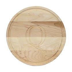 "BigWood Boards Monogrammed ""Q"" Round Maple Cutting Board"