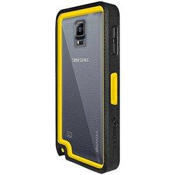 Amzer Crusta Rugged Case Black/Yellow Tempered Glass Samsung GALAXY Note 4