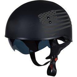 TORC T55 Spec-Op Half Helmet (Flat Black, X-Large)