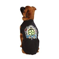 "East Side Collection 16"" Tattoo Dog T-Shirt - Clover - Size: Medium"