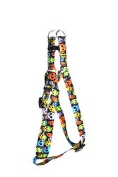 Yellow Dog Design Step-In Harness - Neon Skulls - Size: Small