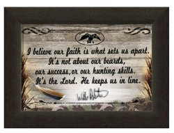 "Carpentree 8""x11"" Duck Commander Framed Art - Our Faith Set Us Apart"