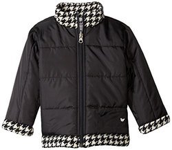 White Sierra Armor Fleece Reversible Jacket, Black, 4T