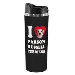 "Tree-Free Greetings ""Russell Terriers"" 14-oz Stainless Steel Tumbler"