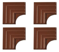 Mirr Edge Pack of 4 Mirror Molding Corner Plates - Royal Oak - Size: 3""