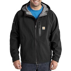 Carhartt Men's Nylon Shoreline Vortex Jacket - Black - Size:Large (102081)