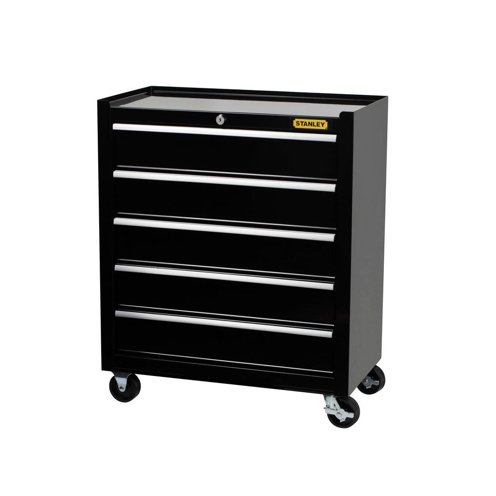 Stanley 24 Inch W 5 Drawer Tool Cabinet Black C