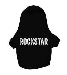 """Oliver & Iris """"rockstar"""" Hoodie For Dogs, X-large, Black"""