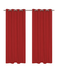"""LJ Home 2-Piece Karma Grommet Curtain Set - Coral Red - Size: 54""""x95"""""""