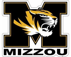 "Missouri Tigers MIZZOU NCAA Vinyl Magnet - 12"" - Set Of 2"