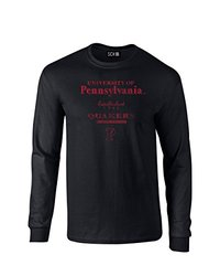 SDI NCAA Men's Stacked Vintage Long Sleeve T-Shirt - Black - Size: Large