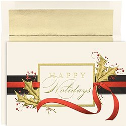 Masterpiece Studios Happy Holidays Boxed Greeting Cards - 16 Count