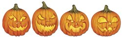 Beistle 01025 24-Piece Scary J-O-L Cutouts, 14-Inch