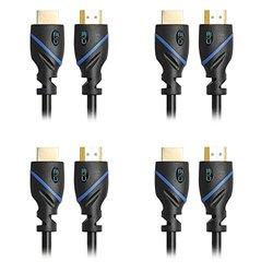 High-Speed HDMI Cable Supports Ethernet, 3D and Audio Return [Newest Standard], 3 Feet, 4-Pack