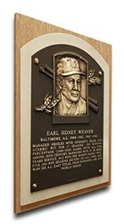 MLB Baltimore Orioles Early Weaver Hall of Fame Plaque - Brown