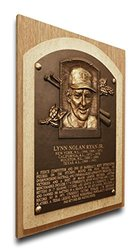 MLB Texas Rangers Nolan Ryan Baseball Hall of Fame Plaque - Brown