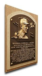 MLB Milwaukee Brewers Warren Spahn Hall of Fame Plaque - Brown