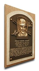 MLB Atlanta Braves Phil Niekro Baseball Hall of Fame Plaque - Brown