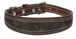 "Weaver Leather Stampede Collar, Rich Brown, 3/4"" x 17"""