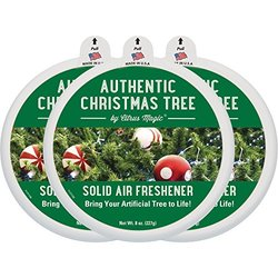 Citrus Magic Holiday Edition Odor Absorbing Solid Air Freshener, 8-Ounce, Authentic Christmas Tree, 3-Pack