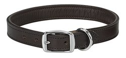 "Weaver Leather Padded Collar, Chocolate Liner, 1"" x 19"""