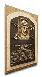 MLB St. Louis Cardinals Enos Slaughter Baseball Hall of Fame Plaque on Canvas