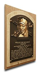 MLB San Francisco Giants Willie McCovey Hall of Fame Plaque - Brown
