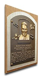 MLB Philadelphia Phillies Robin Roberts Hall of Fame Plaque - Brown