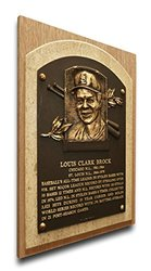 MLB St. Louis Cardinals Lou Brock Baseball Hall of Fame Plaque on Canvas